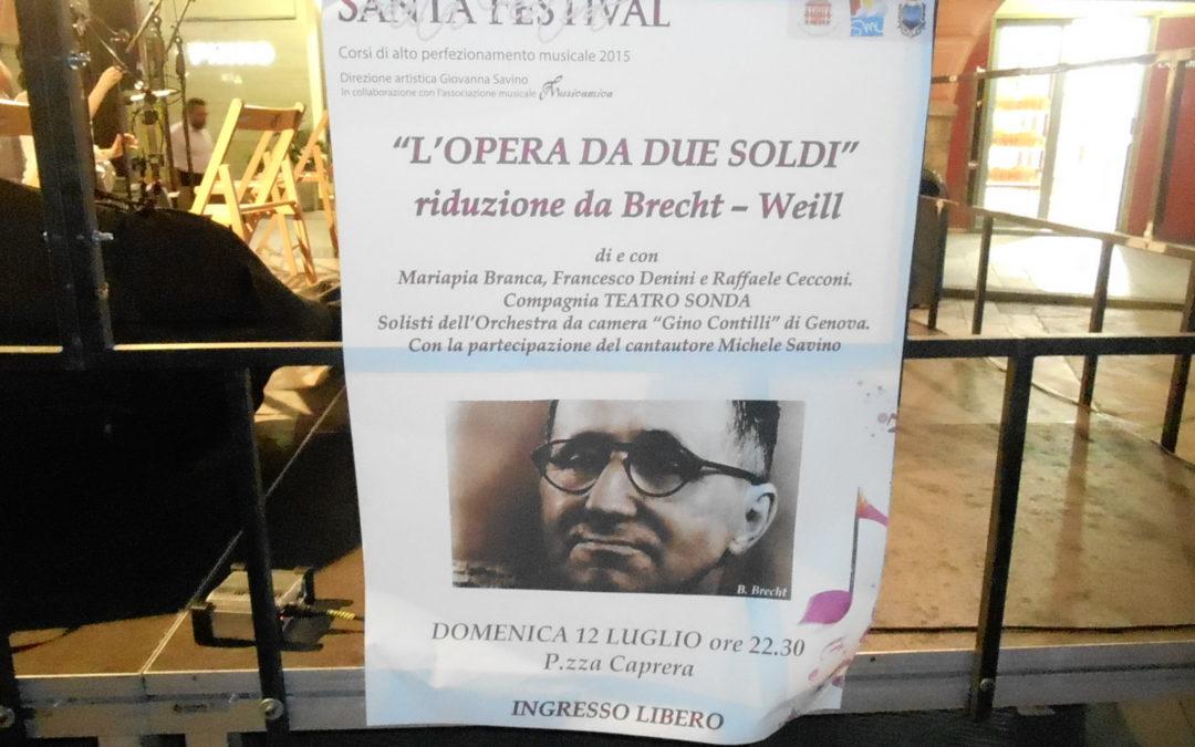 OPERA DA DUE SOLDI – Riduzione da Bertold Brecht e Kurt Weill, di Raffaele Cecconi (musiche) e Francesco Denini (testo) (1977)
